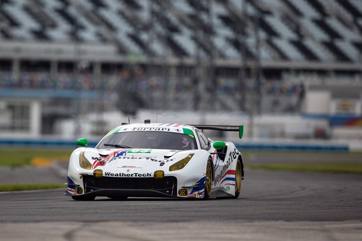 Looking good to start the race in P5!   Join us in cheering for @Scuderia_Corsa live on @NBCSN! Green flag drops at 6pm ET.  #WeatherTech240 #IMSA