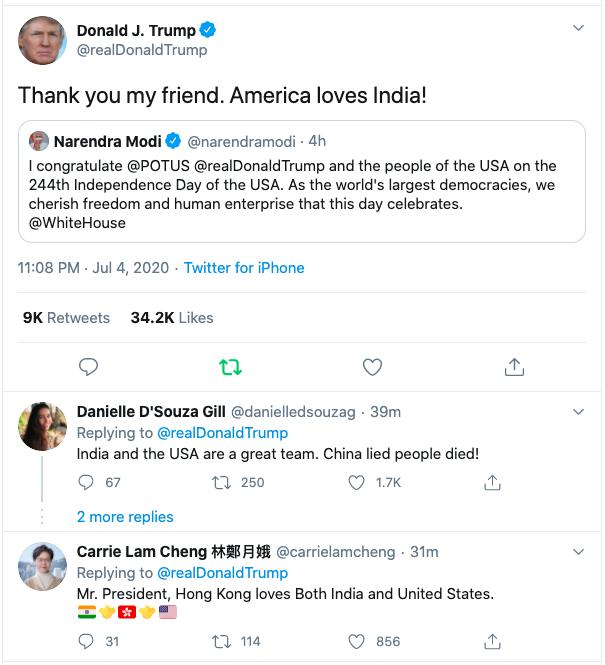 Thank you my friend, America loves India: Trump replies Modi's greetings