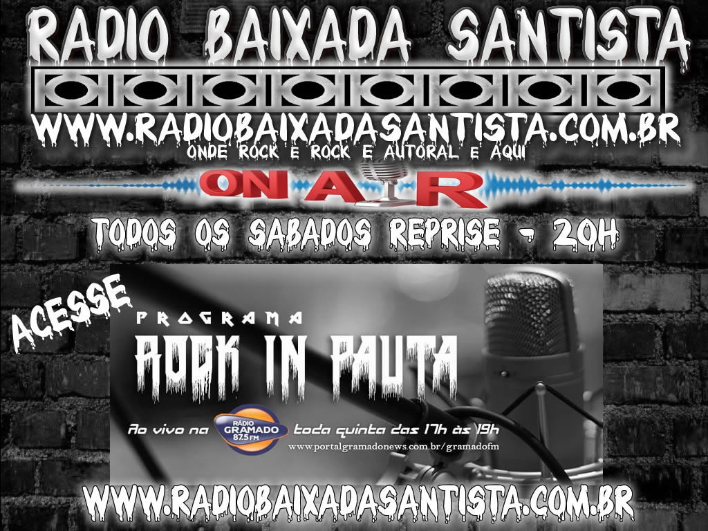 #RadioBaixadaSantista Programa Rock in Pauta Parceria com a #GramadoFM Todos os Sabados as 20h Reprise http://www.radiobaixadasantista.com.br http://www.facebook.com/programarockinpauta… http://www.facebook.com/Gramado87FM #metalbrasil #heavymetal #gramadofm #rocknroll #deathmetal #blackmetal #trashmetal #rockmetal #metalheadpic.twitter.com/zT8E1wM8Kt