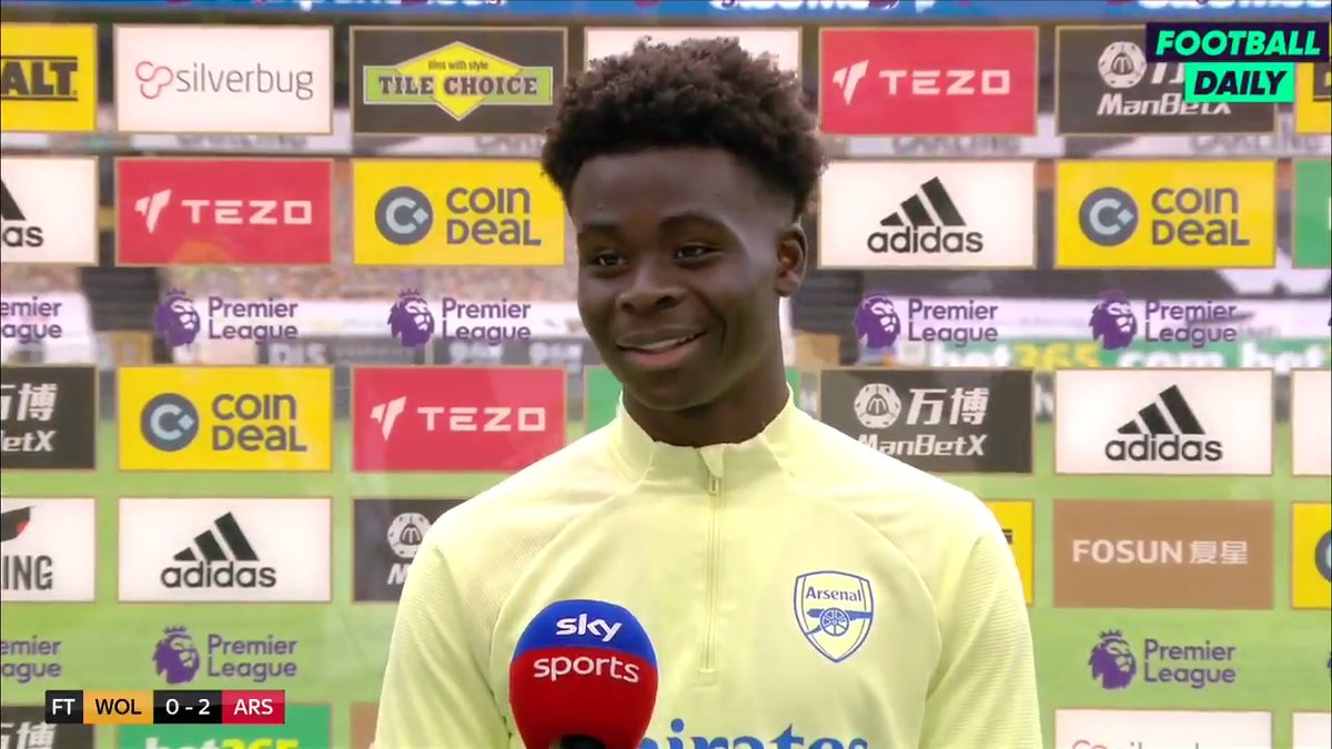 🗣 'It's been a week I'll remember for my whole life' Saka on scoring and signing a new contract. #AFC