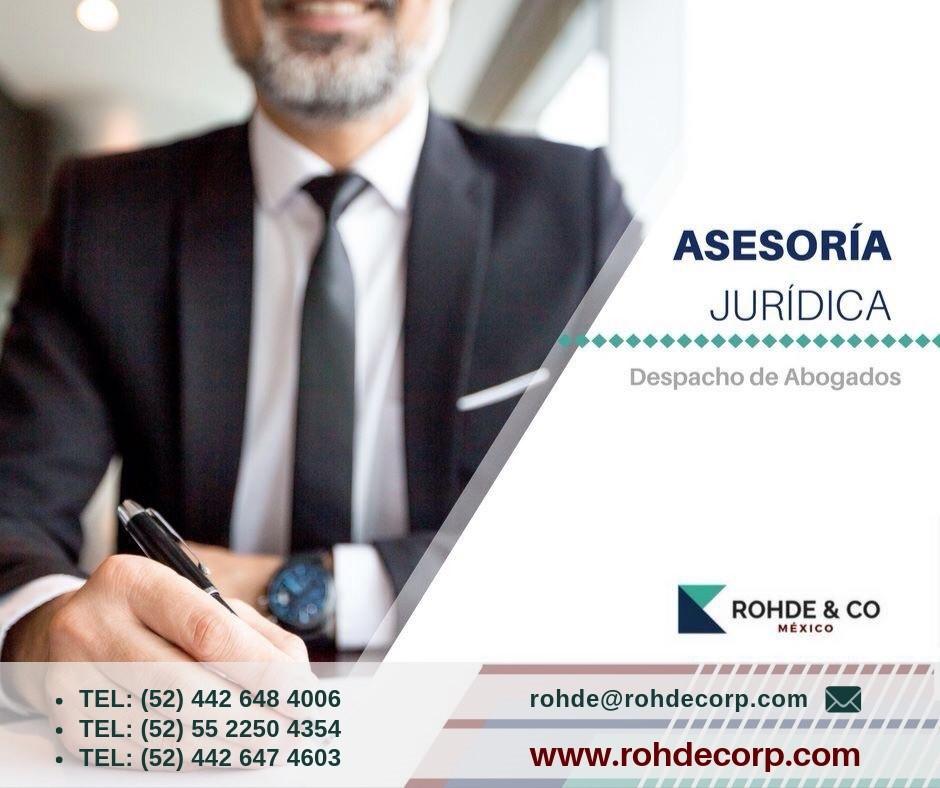 Para #ASESORIA LEGAL INTEGRAL , REGISTRO DE MARCAS, CONTRATOS ,LITIGIO ADMINISTRATIVO Y AMPAROS , acude a ROHDE & CO , par asesoría confiable , que se alinee a los objetivos de tu negocio . MX#rohdecorp.com pic.twitter.com/z3o0ntqGQK