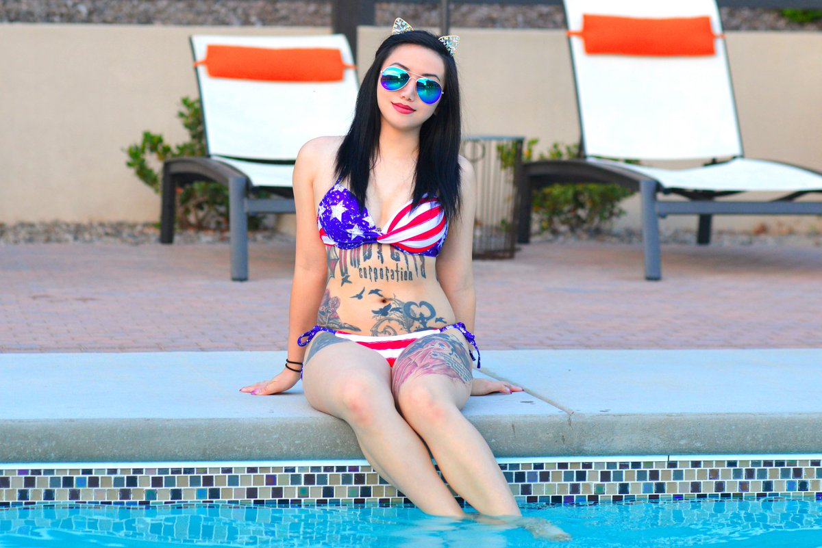 Getting me some Vitamin D!! 😉 Happy 4th of July & Enjoy Yourself! 💗NSFW Exxxclusive Videos & Photosets |  💝Snapchat: ashekai 💚NSFW |   #4thofjuly #bikini #asiangirls #cute #redwhiteandblue #sexy #tattoo #inked #inkedgirls