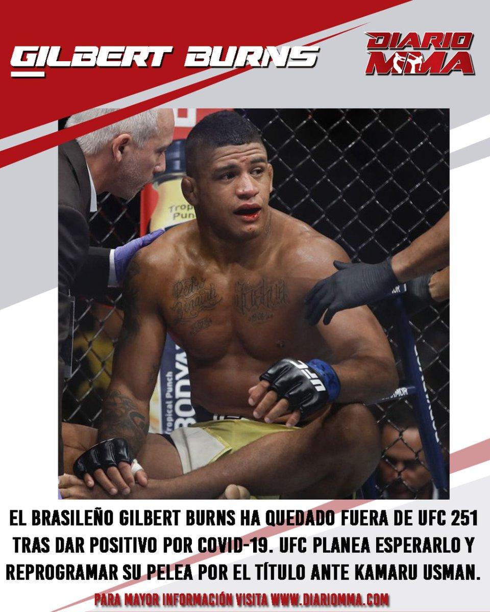 Gilbert Burns queda fuera de UFC 251 donde enfrentaría a Kamaru Usman. Para su fortuna, UFC ha descartado buscar un sustituto y optará por esperarlo para reprogramar la pelea.  #GilbertBurns #Burns #Durinho #UFC251 #KamaruUsman #FightIsland https://t.co/TPFcrOfY6o