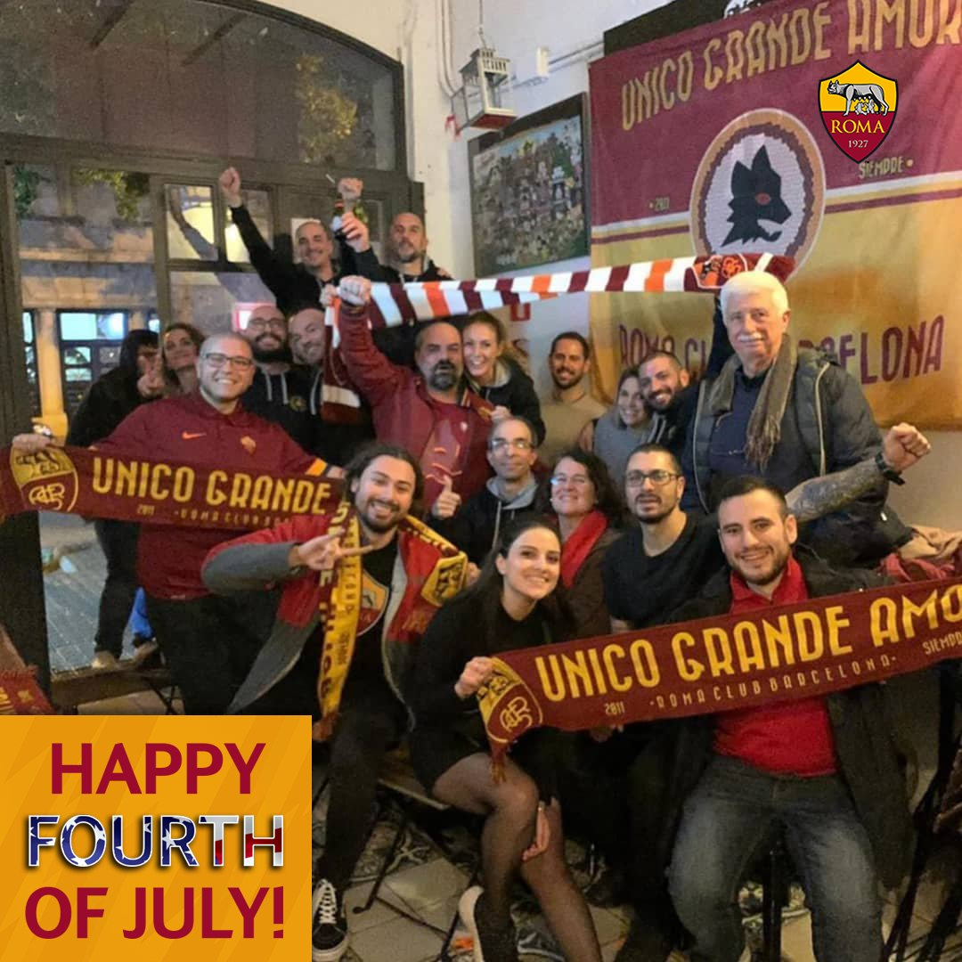 From sea to shining sea, Happy 4th of July to our #ASRoma family in the United States! 🇺🇸 https://t.co/giDQF8Djfp
