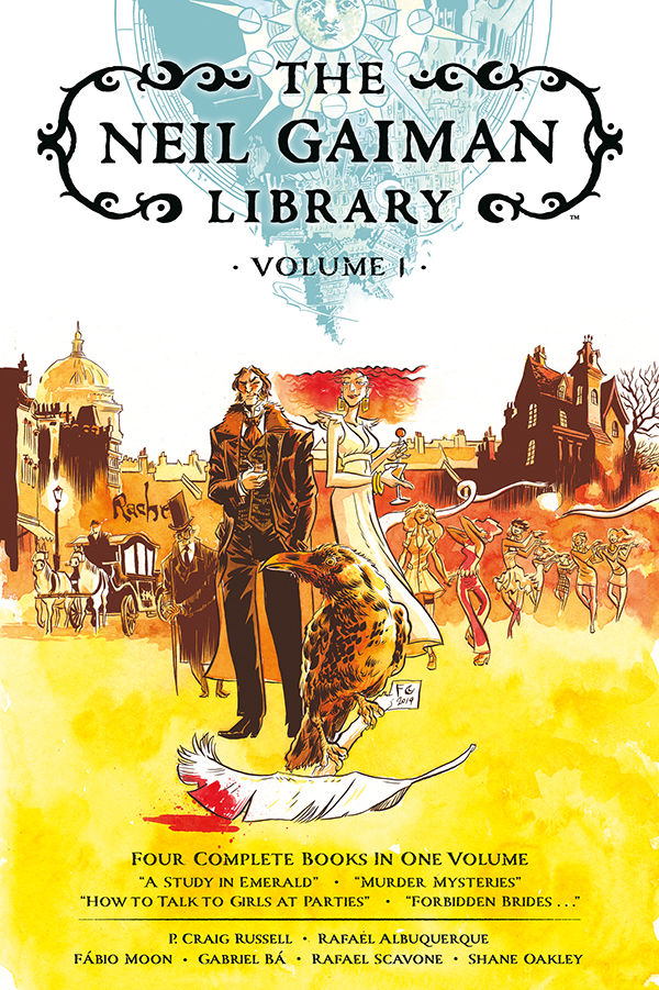 The Neil Gaiman Library Vol. 1 is available now! Collects the full graphic novels A Study in Emerald, Murder Mysteries, How to Talk to Girls at Parties, and Forbidden Brides... in a deluxe hardcover volume: https://t.co/msW53ShtmV By @neilhimself @fabiomoon @Gabriel_Ba & more! https://t.co/Gu28YgUfxj