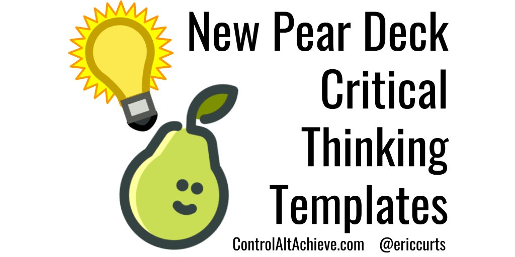 Pear Deck Critical Thinking Templates for Google Slides  https://www. controlaltachieve.com/2018/08/pearde ck-critical-thinking.html  …  #GSuiteEDU #ControlAltAchieve<br>http://pic.twitter.com/tUuBqGbaA9