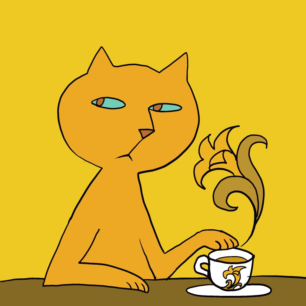 Make that tea iced. #colour_collective #filigreegold #filigreepattern  #Caturday #CatsOfTwitter #Teatimepic.twitter.com/PpSGpLK1BA