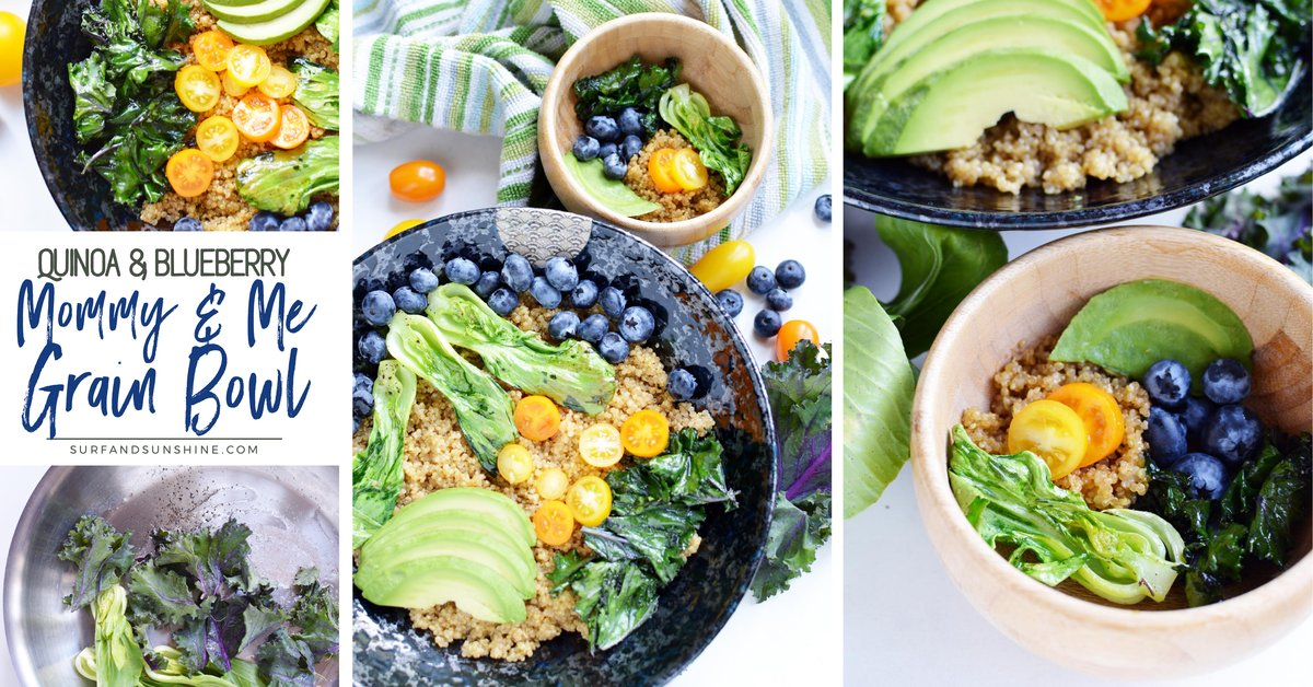 Lead by example for healthy eating w/ our #MommyandMe Grain Bowl #Recipe w/ #Quinoa & Blueberries http://bit.ly/2KHgUDf #CleanEatingpic.twitter.com/9Cs70jLQSY