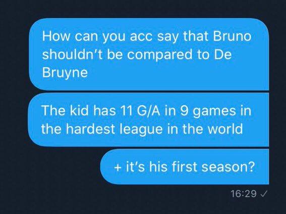 #GainSZN Bruno top 5 midfielders in prem ? pic.twitter.com/ejI8XHJxTN