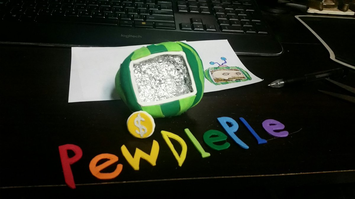 Gotta clay out the face and build the antennae, but it's getting there. #pewdiepie #stopmotionanimation #cocomelon<br>http://pic.twitter.com/pQA7CYRRW6