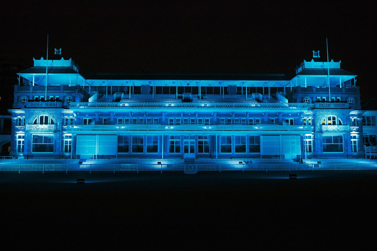 We're lighting the Pavilion blue tonight   On the weekend of @NHSEngland's birthday, we're joining with other landmarks from across the UK to #LightItBlue as we remember those we have sadly lost during the pandemic.   #ThankYouTogether | #LoveLords<br>http://pic.twitter.com/ucy9Rpk5We