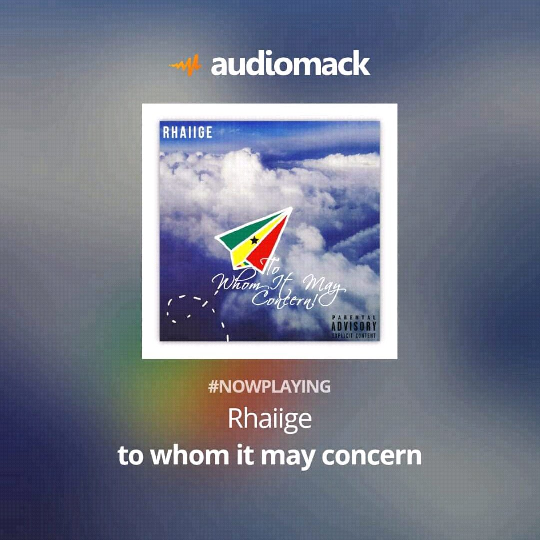 #nowplaying to whom it may concern by Rhaiige via the @audiomack app  https:// audiomack.com/song/yung-delu xe/to-whom-it-may-concern  … <br>http://pic.twitter.com/MONIpLxplP