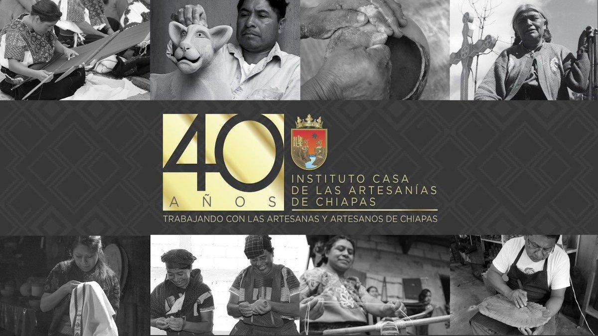 Hoy reconocemos la labor del @Artesania_Chis a 40 años de su creación. Felicito a su personal por esa vocación de servicio a favor del bienestar de las y los artesanos. Nos alegra compartir esta tarea que ha llevado el instituto para que nuestra artesanía llegue a todo el mundo. https://t.co/QqdKml2FMV