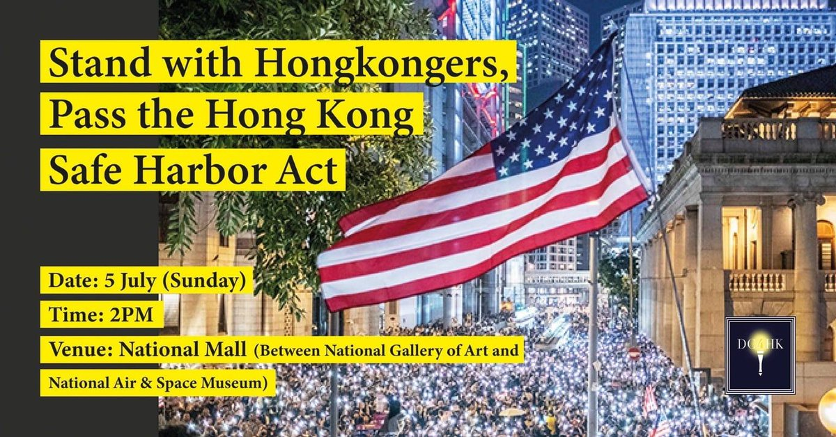 "I am excited to be joining HKers in Washington, D.C. tomorrow as we stand against the ""National Security Law"" & embrace freedom for HK! #NationalSecurityLaw #HongKong @Stand_with_HK @hk_watch @FreedomHKG @Fight4HongKong @SolomonYue @hkdc_us @dc4_hk @BeWaterHKG @HongKongFP #HK https://t.co/PAphLVx9YB"