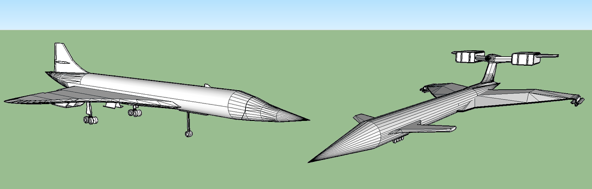 Certainly 2 of my favorite flyers i made, my own version of the Concorde and Thunderbirds Fireflash #sketchupmodels #3DModel #3dmodeling #gamedev #indiedev #3Dart #Concorde #thunderbirds #fireflash #supersonicpic.twitter.com/7cNVfrfjWZ
