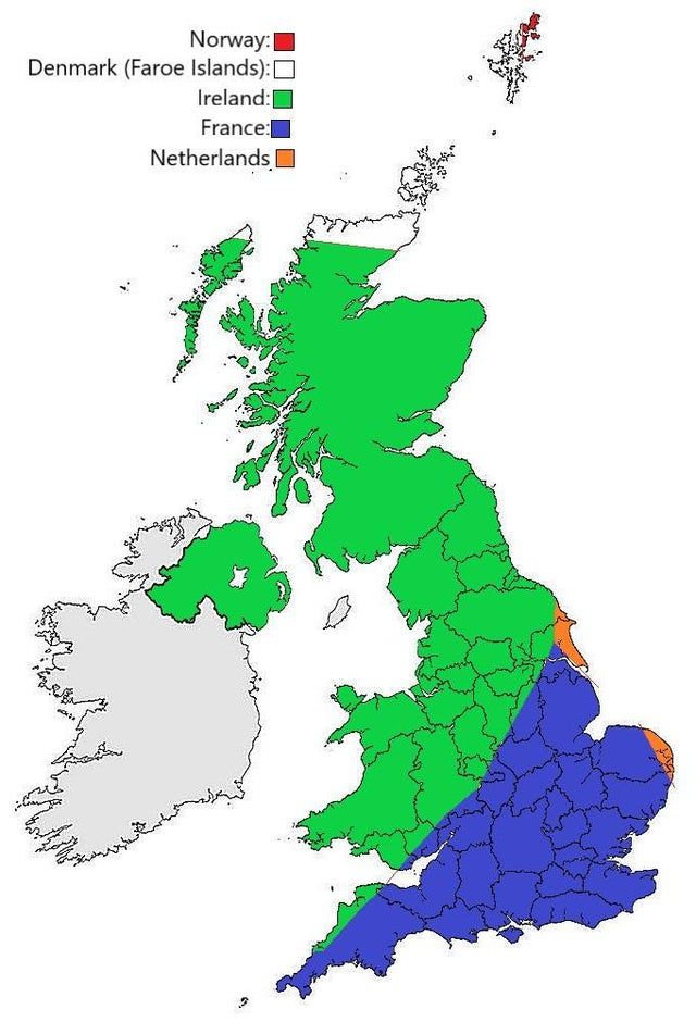 Map of the UK shows which country is the nearest neighbour. Source: buff.ly/2NPgVVm