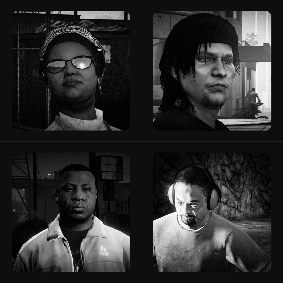 GTA V Portraits  Ongoing project of the people that make San Andreas.   For more visit my website, link in bio  #Virtualphotography #gamingphotography #gamecapture #GrandTheftAutoV #GTA5 #Rockstargames #gtaonline #GTAV #sanandreas #Playinggamesshootingframes #portraitpic.twitter.com/TaVhVaVStJ