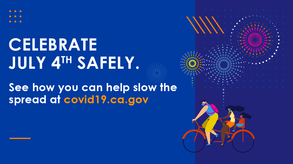 Celebrate #4thofJuly safely! 😷Wear a mask. ↔️Stay 6ft apart from those outside your household. 🙋🏿‍♀️Avoid crowds.  Together we can #SlowTheSpread! https://t.co/xneMmBeUCr