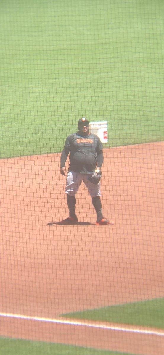 Pablo Sandoval is taking grounders at third base. His throws appear to have good carry. https://t.co/Lrk5ltofyl