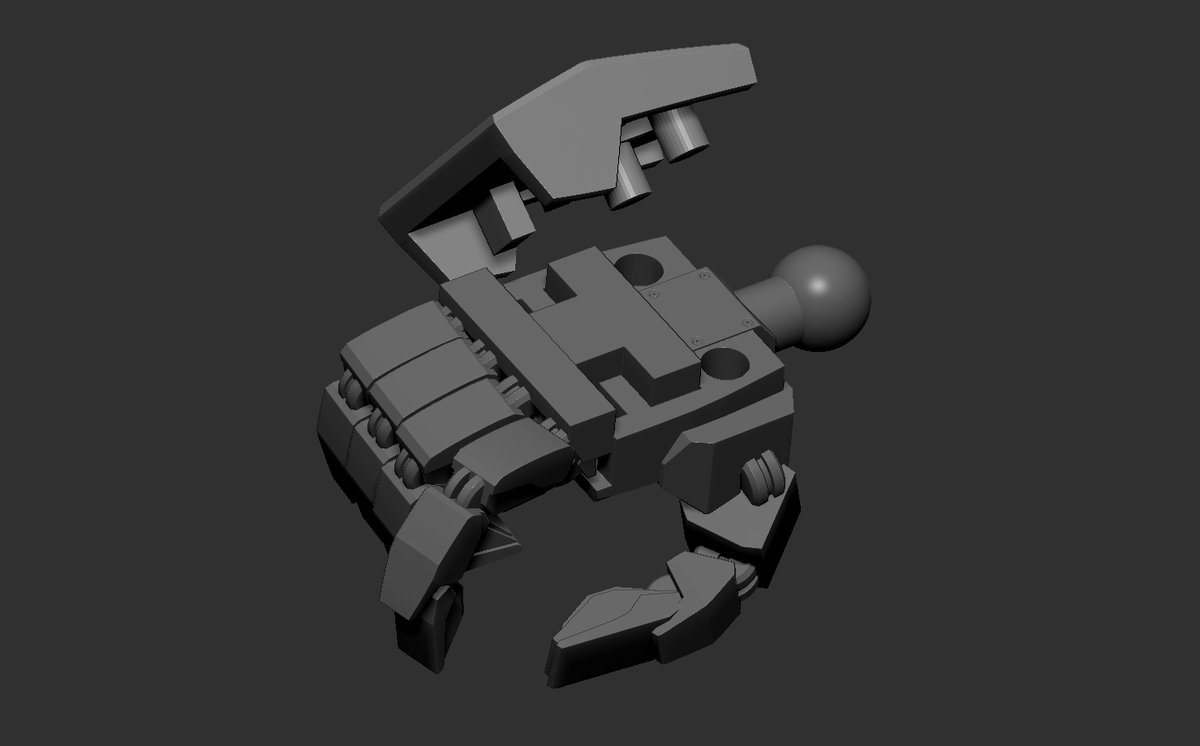 I think this will work .  I think the hand design will fit most 1/100 models without being too loose holding stuff either.   Onto scaling these for 1/144 this week #Gunpla #Gundam #ガンプラ #ガンダム #3dprinting #3dmodeling pic.twitter.com/4lyrboONiP