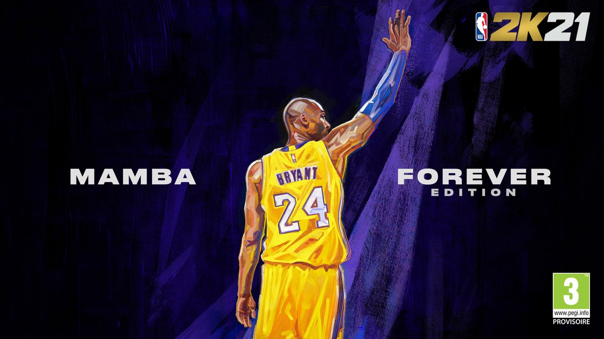 Relentless. Driven. A true competitor.   Célébrons Kobe Bryant sur la cover de l'édition #NBA2K21 Mamba Forever!   Pré-commandez ici 👉 https://t.co/VUFRXDTa1H https://t.co/FZILX20ntF