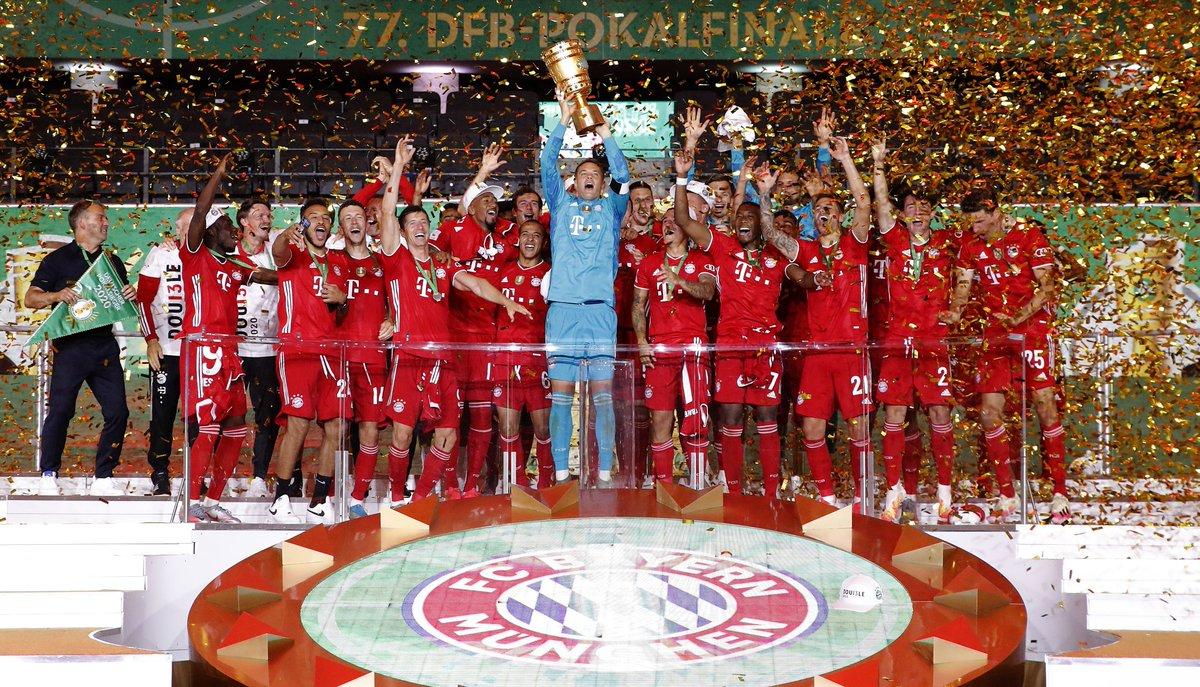FCBayernEN: RT alvaroodriozola:  DFB Pokal Winners!!! pic.twitter.com/aeRwX5stCY #fcbayern  by AMB