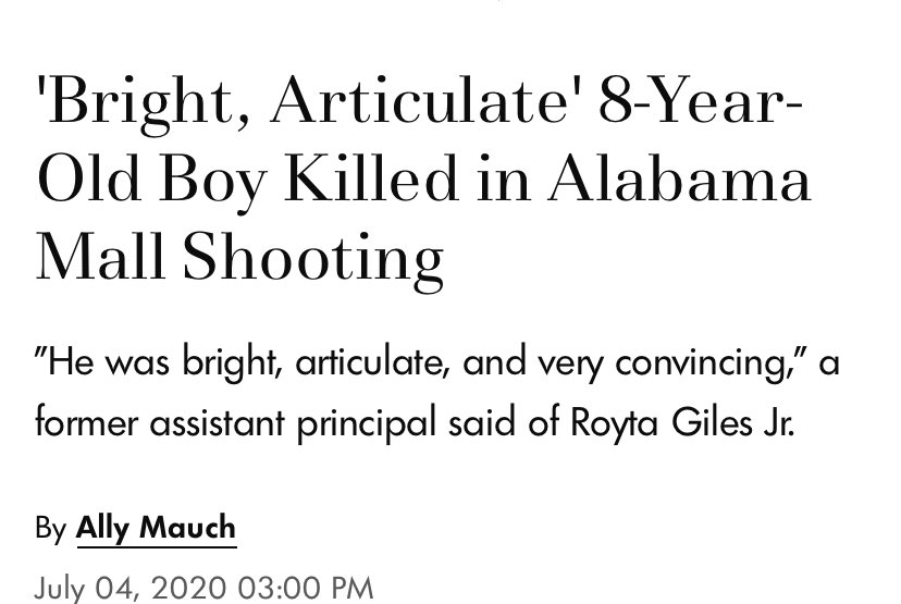 just so y'all know, an 8 y/o boy was shot and killed at the riverchase galleria mall in hoover alabama. the shooter didn't wear a mask and was asked to leave, making him so angry that he shot up a mall, injured 3 people and killed one...what the fuck is wrong with y'all? pic.twitter.com/YKm0mrvsSS  by euphoria