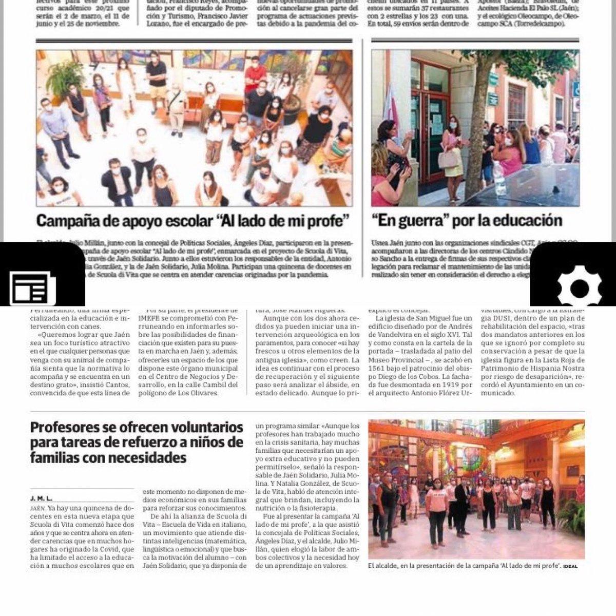 Campaña de refuerzo escolar a los niños de las familias de Jaén Solidario. Gracias a los profesores/as voluntarios que la hacen posible @SCUOLADIVITA2 #jaen https://t.co/Xy2RteLSW6