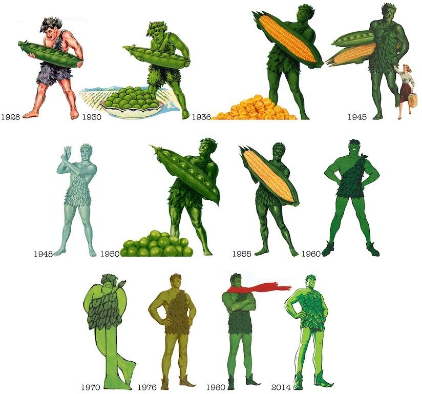 The evolution of the Jolly Green Giant. https://t.co/VNvLiOnkd9