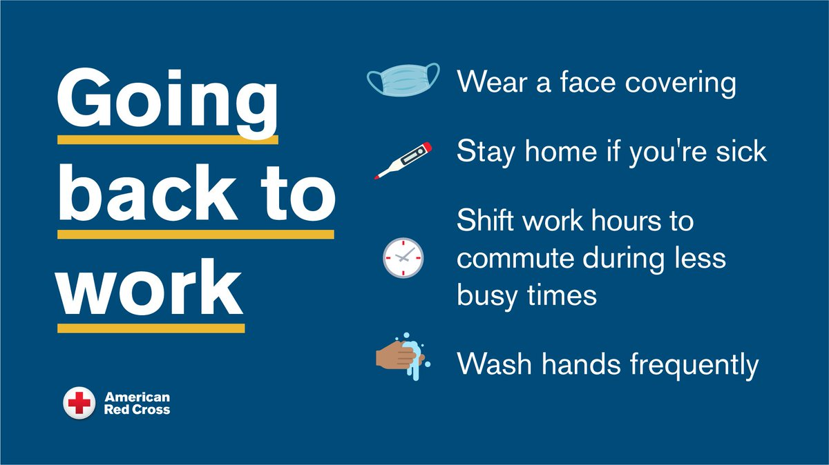 If you are going back to your place of employment, follow CDC guidance to prevent the spread of #COVID19. For more coping tips during coronavirus click: bddy.me/2NSLYQh