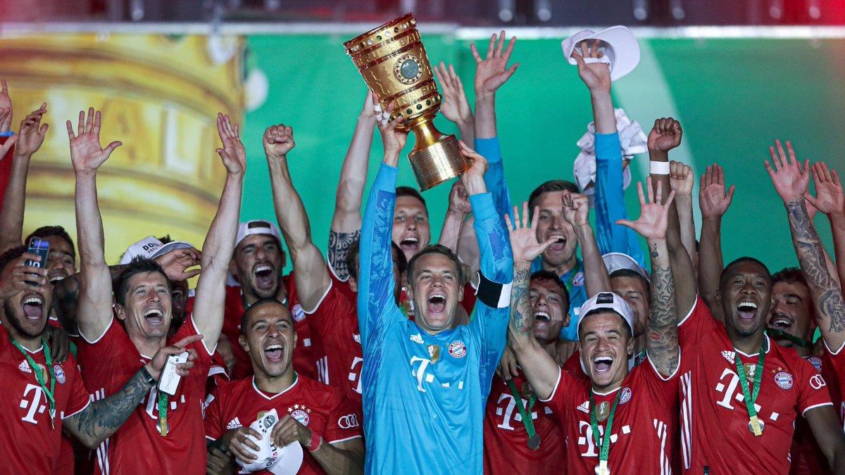 Ganó Liga y Copa. Uno de los mejores equipos de Europa. Con una base de menores de 25 que le asegura el futuro: Kimmich y Goretzka 25, Pavard, Lucas Hernández, Sule, Odriozola, Coman y Gnabry 24, Cuisance 20 y Davies 19... Y está llegando Sané (24).  ¡La Máquina Bayern Munich! https://t.co/mKjYGfNf1g