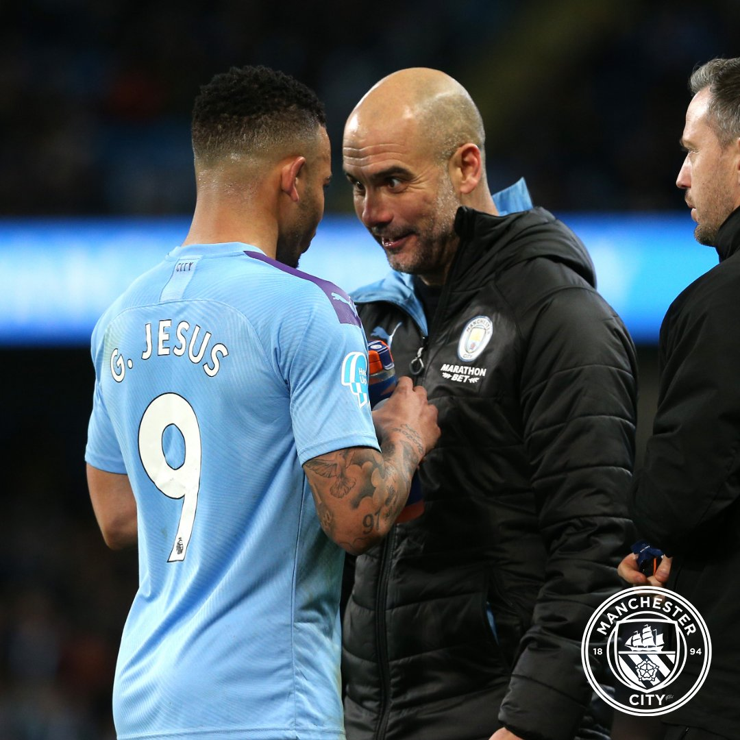 PEP 💬 It is perfect for us because  (Aguero and Jesus) are complementary.  @gabrieljesus9 has something unique in the world. He helps us to be more aggressive. He is a fighter. We have scored many goals in the last five games thanks to him.  ⚽️ @marathonbet  🔵 #ManCity https://t.co/zZx9RHCg1t