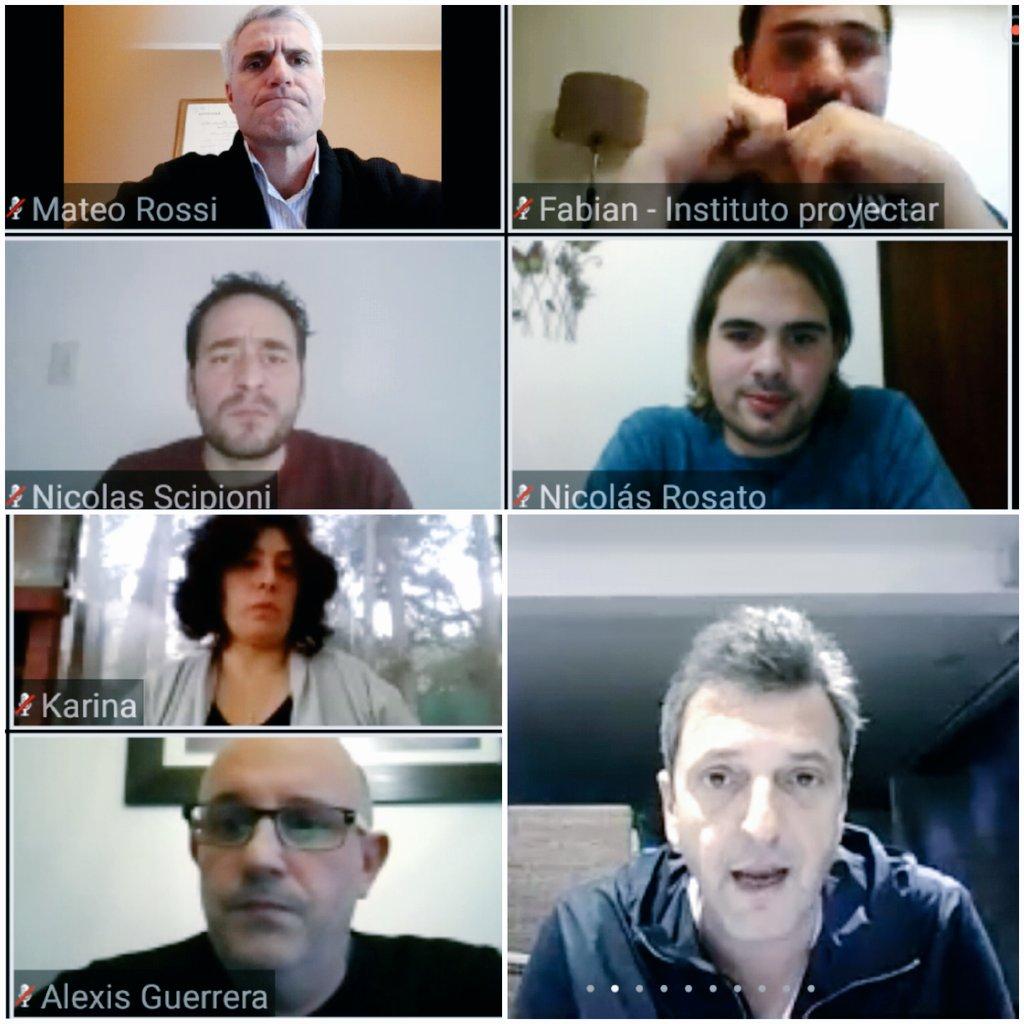 📌 Un gusto haber participado del encuentro virtual organizado por el Instituto Proyectar de #Chacabuco que tuvo como principal disertante a @SergioMassa.  Se abordaron distintos escenarios generados por la pandemia en nuestro país.   #ArgentinaUnida ❤ 🇦🇷 https://t.co/nvKQX3iu1m