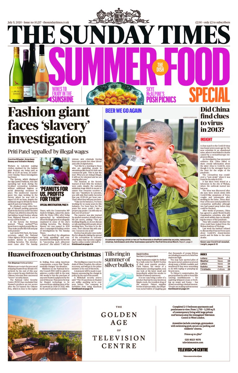 A Sunday Times undercover investigation exposes a 'sweatshop' factory where underpaid workers make clothes for Boohoo, as it's revealed the fashion empire's billionaire owner is in line for a £50m bonus #TomorrowsPapersToday https://t.co/ckFFXg0ta7