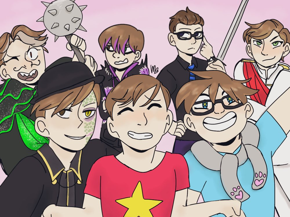 So basically I haven't posted art in a month. Anyway, @ThomasSanders pic.twitter.com/6oOO4KeyNn  by Jess