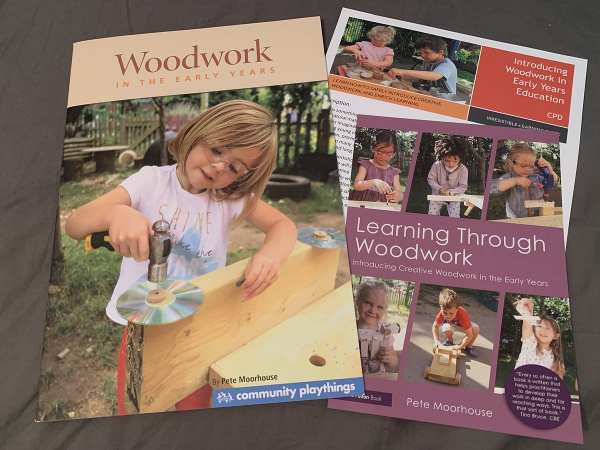 I took part in a Pete Moorhouse class on Woodwork in the early years in October 2019. It was very inspiring and thought provoking. It enlightened to me how woodwork can be so fruitful and beneficial to a child's holistic development. Definitely would recommend this CPD course. https://twitter.com/petemoorhouseey/status/1275384803743981575…pic.twitter.com/FliU91SK0a