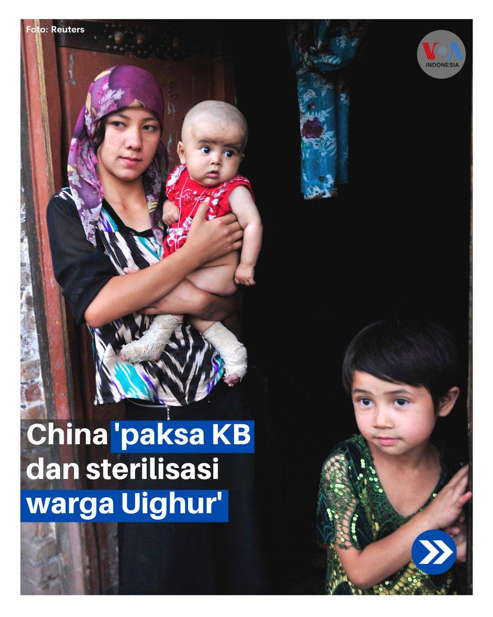 #PalingPopuler China kembali menuai kecaman karena diduga memaksa pasang alat kontrasepsi IUD (spiral), mensterilisasi hingga mengaborsi perempuan Uighur dan etnis minoritas lainnya seperti Kazakh. https://t.co/060wcuhuOK