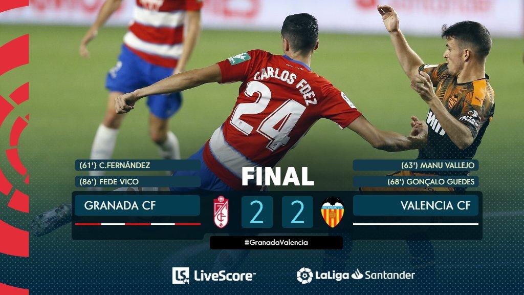 FINAL #GranadaValencia 2-2 ¡PARTIDAZO EN GRANADA! 🔥