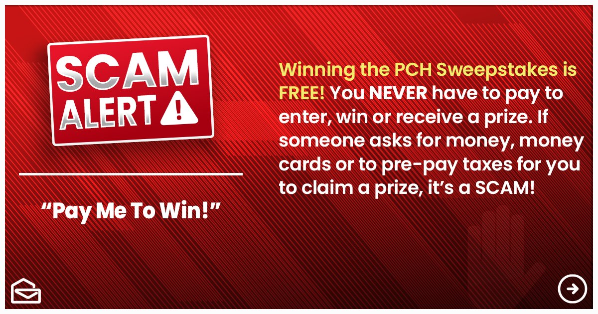 #PCH never asks for cash to play or collect a prize! pic.twitter.com/s0NGj4edXL
