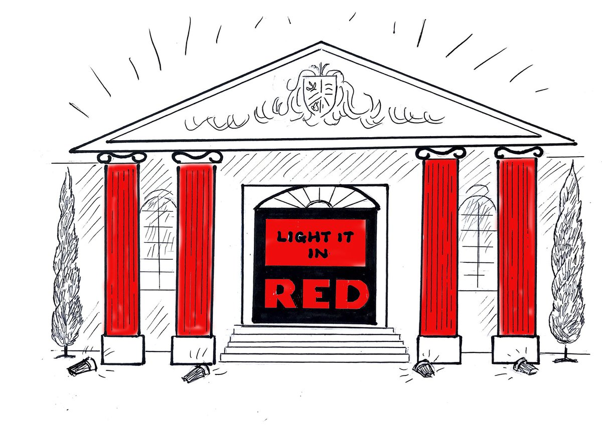 Two nights go until #LightItInRed  #Northampton .......Have we got a treat in store for you!!!  #WeMakeEvents #robelighting #robeinnovation #robearoundtheuk  Illustration credit: Jill Stickland https://t.co/W4xcJR3axU