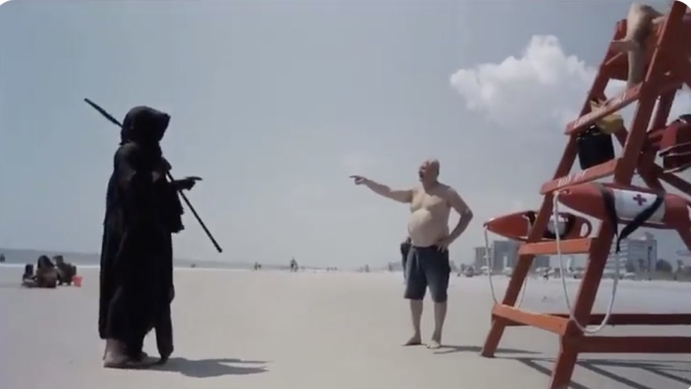 Best fucking sight ever!   #GrimReaper on #floridabeaches #Epic  Sounds about right! https://t.co/jn3i6nGADI