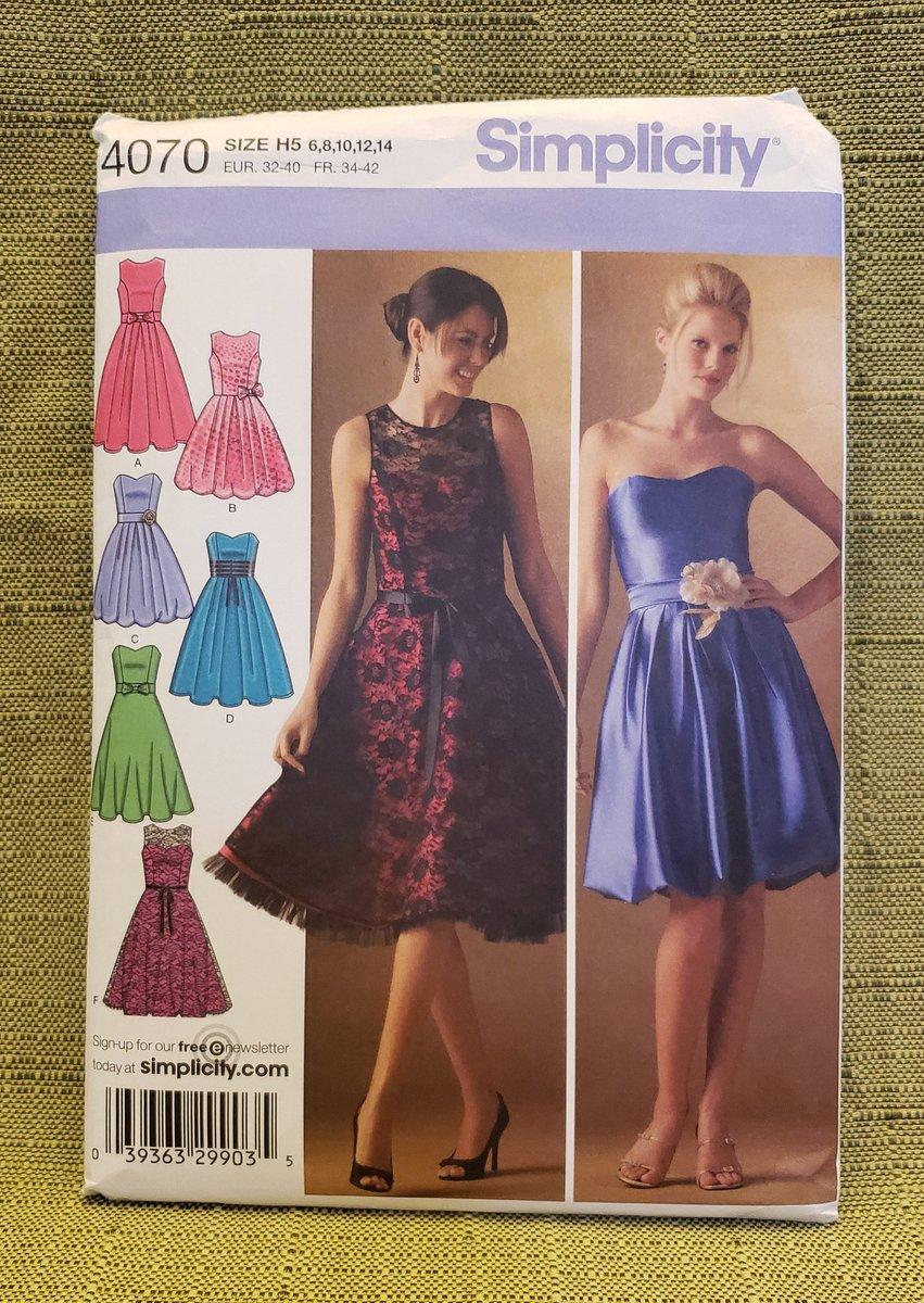 Misses, Misses Petite Dress, Bodice, Skirt Variations, Prom Dress, Formal Dress Simplicity Sewing Pattern 4070, Size 4, 6, 8, 10, 12, 14 https://t.co/2ldymXxWJU #Etsy #ImagineQuiltsAndMore #Dress https://t.co/Y3v8mBoyLB