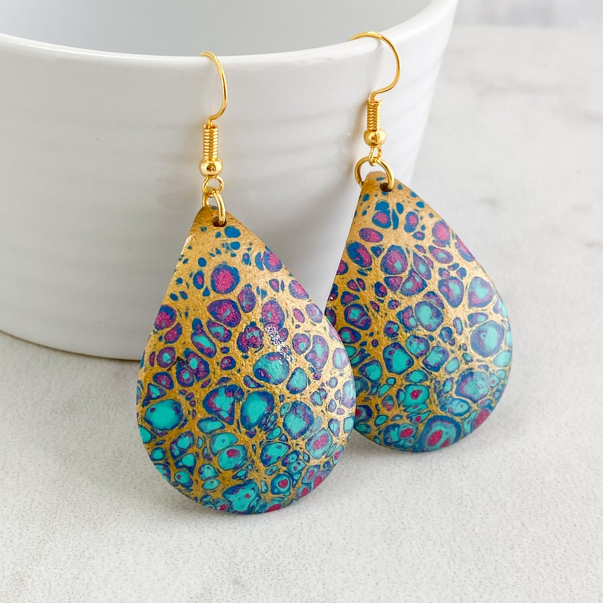 Big Colorful Earrings, Summer Earrings, Multicolor Earrings, Gift for Her, Handmade Jewelry, Handpainted, Gold, Hot Pink, Aqua, Style 119 https://t.co/zddU2IFoIW #shopping #smallbiz #ecommerce #style #shopsmall #etsyshop #etsy #gifts https://t.co/PMdTEuEIec