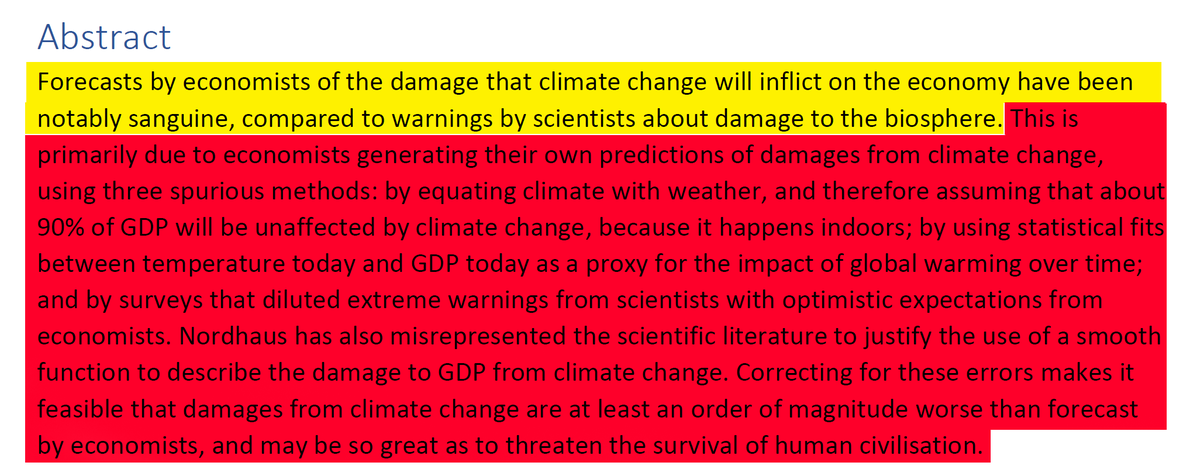 4/44 AbstractEconomists making up their own stuff to get to their preconceived conclusion that climate change will be no big deal.