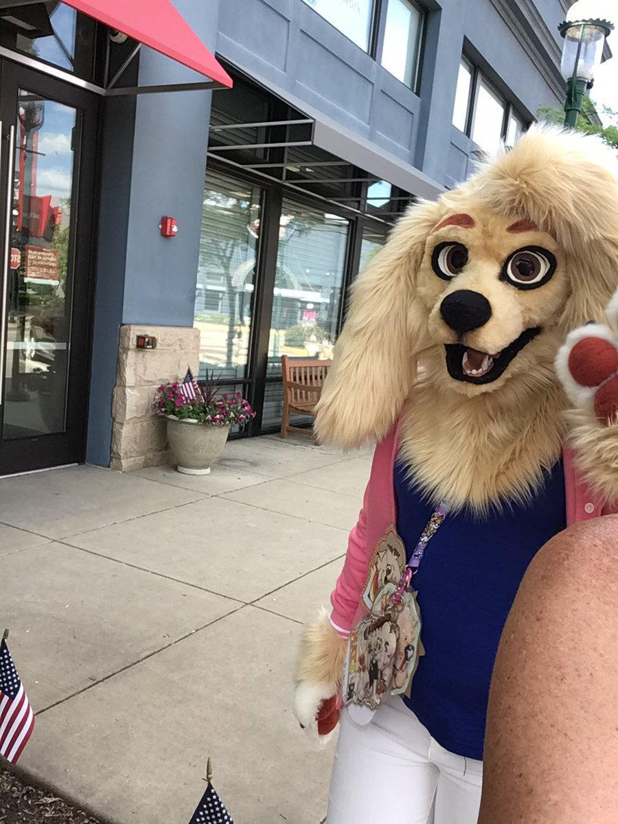 Went fursuiting today down at the Waterfront! Cause gosh darn it if there's not a fursuit parade I'll do it myself! <br>http://pic.twitter.com/GZVCVu3RdP
