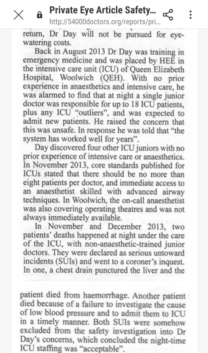 They spent £700k crushing me, a junior doctor. The below screeshot from Private Eye is why they did it. For the how they did it click on this link; lnkd.in/gyaXY4w Was it money well spent? Are you interested in who they are?