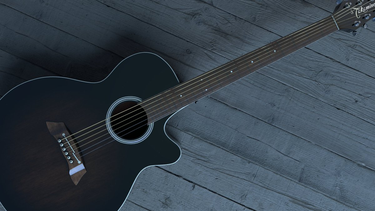 Takamine Acoustic Guitar #3dcg #substancepainter #redshift pic.twitter.com/Ja1AEx3T2Y