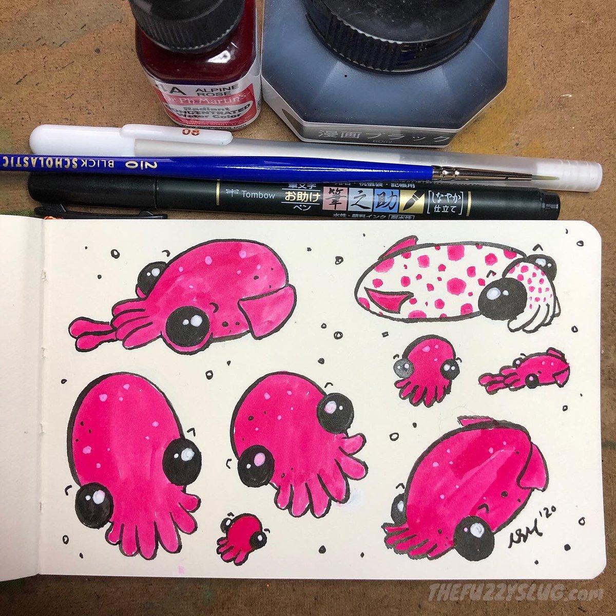 Cephalopod friends  . . . #NewSketchbook #DrPhMartins #watercolor #cephalopod #CephalopodArtpic.twitter.com/CUS6Bkgpq7