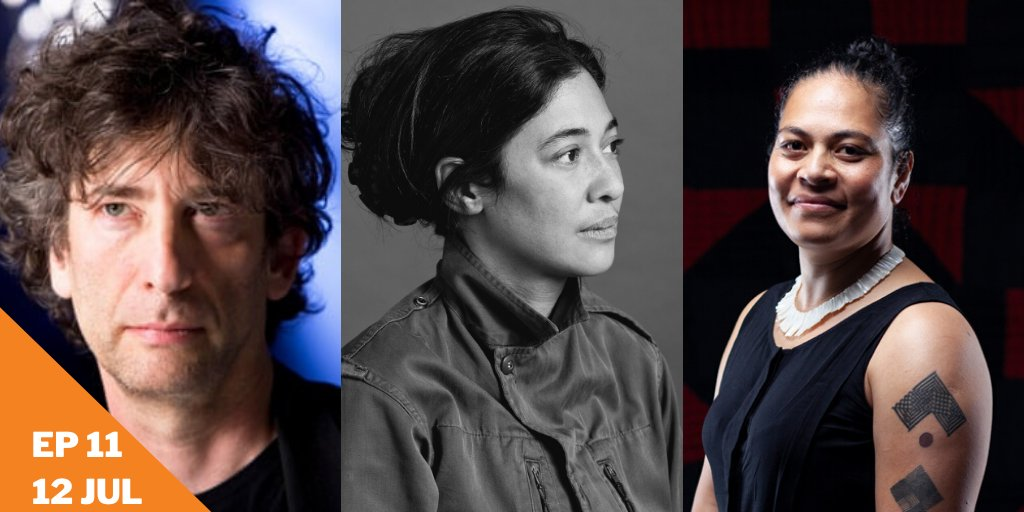 #awfwinterseries Ep11 features English master storyteller Neil Gaiman, Canadian writer and artist Leanne Shapton and author and curator Kolokesa Uafā Māhina-Tuai.  LIVE & FREE 9AM NZ time, Sunday 12 July on Facebook or YouTube. @neilhimself @Shaptonia @Kolokesa_MT https://t.co/whoXeHp80F