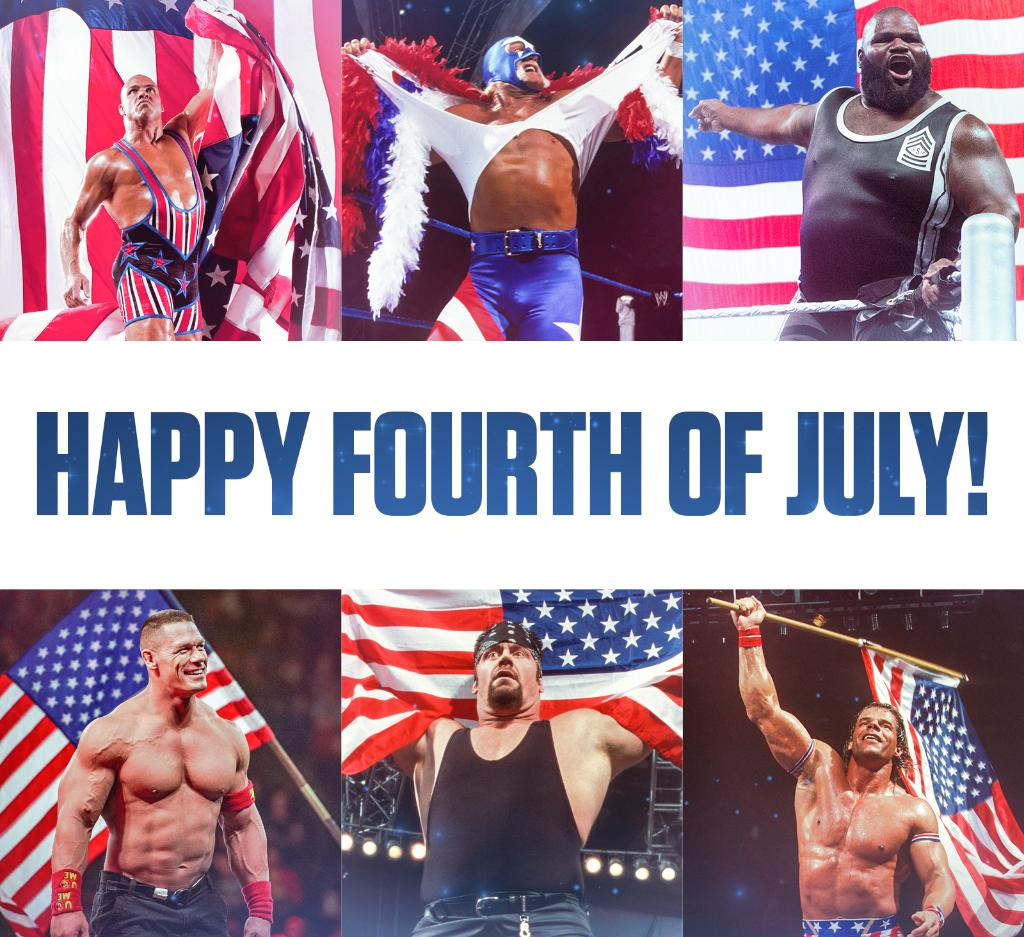 Happy 4th of July, @WWEUniverse! pic.twitter.com/tqdLeAdyQf  by Lexi Kaufman